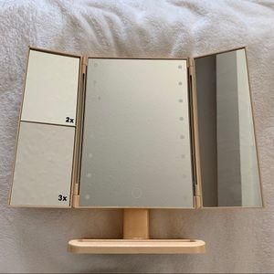 Other - Gold Glitter Bi Fold Vanity Mirror